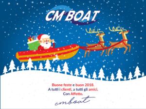 Auguri Natale CM Boat 2018 Gommoni Riparazione Gommoni